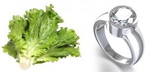 เพชรกับผัก